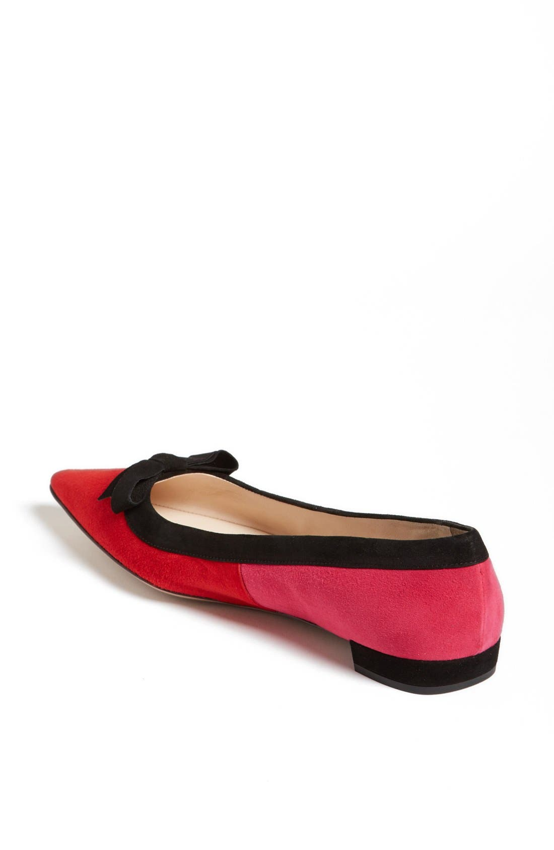 Alternate Image 2  - Prada Tricolor Bow Pointy Toe Flat