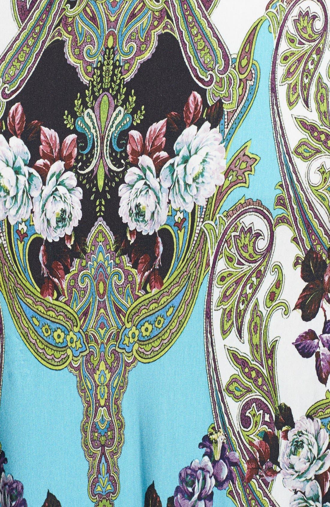 Alternate Image 3  - Sky 'Golubisa' Print Crochet Back Jersey Maxi Dress