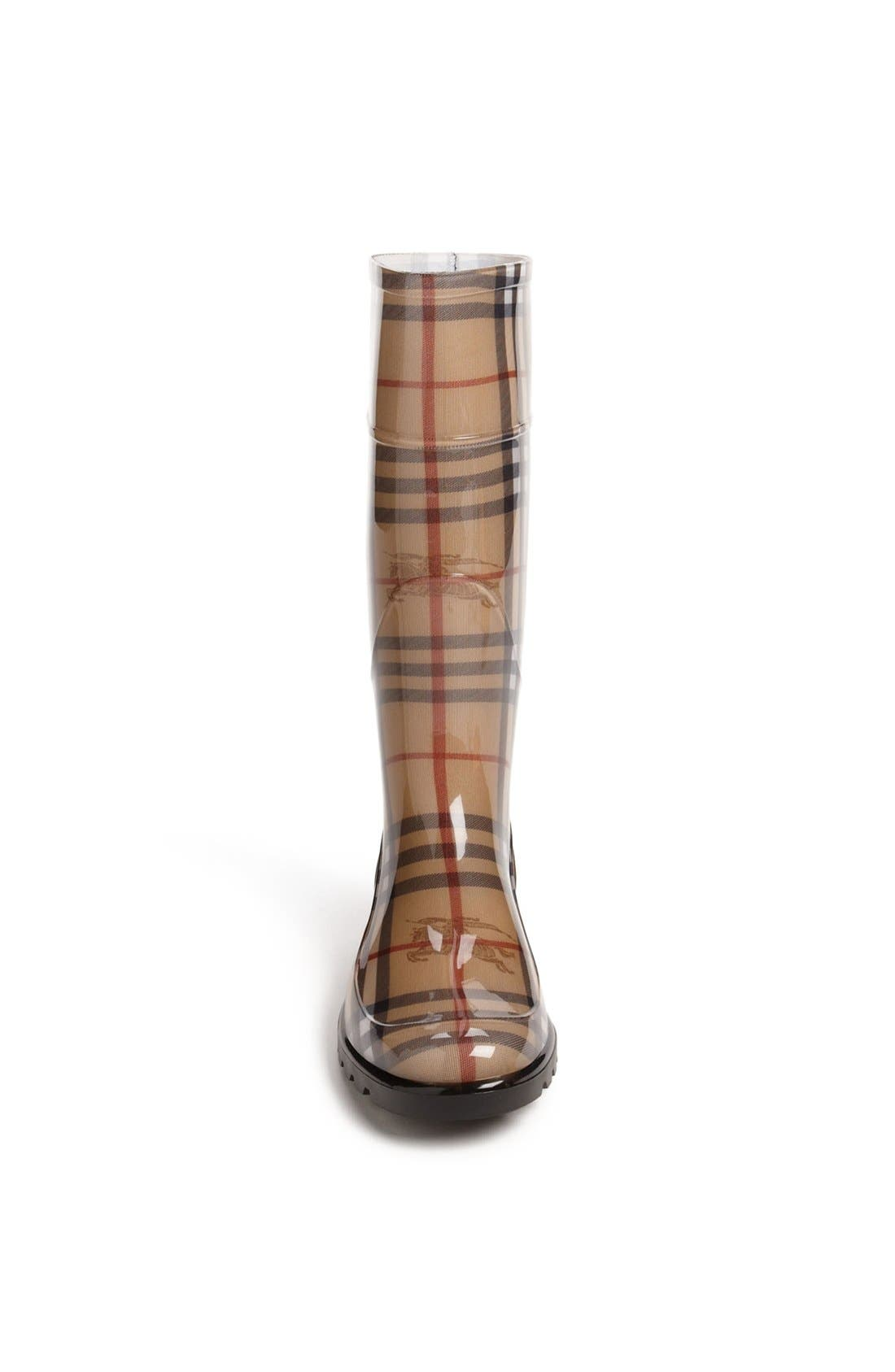 Alternate Image 3  - Burberry Tall Rain Boot (Women)