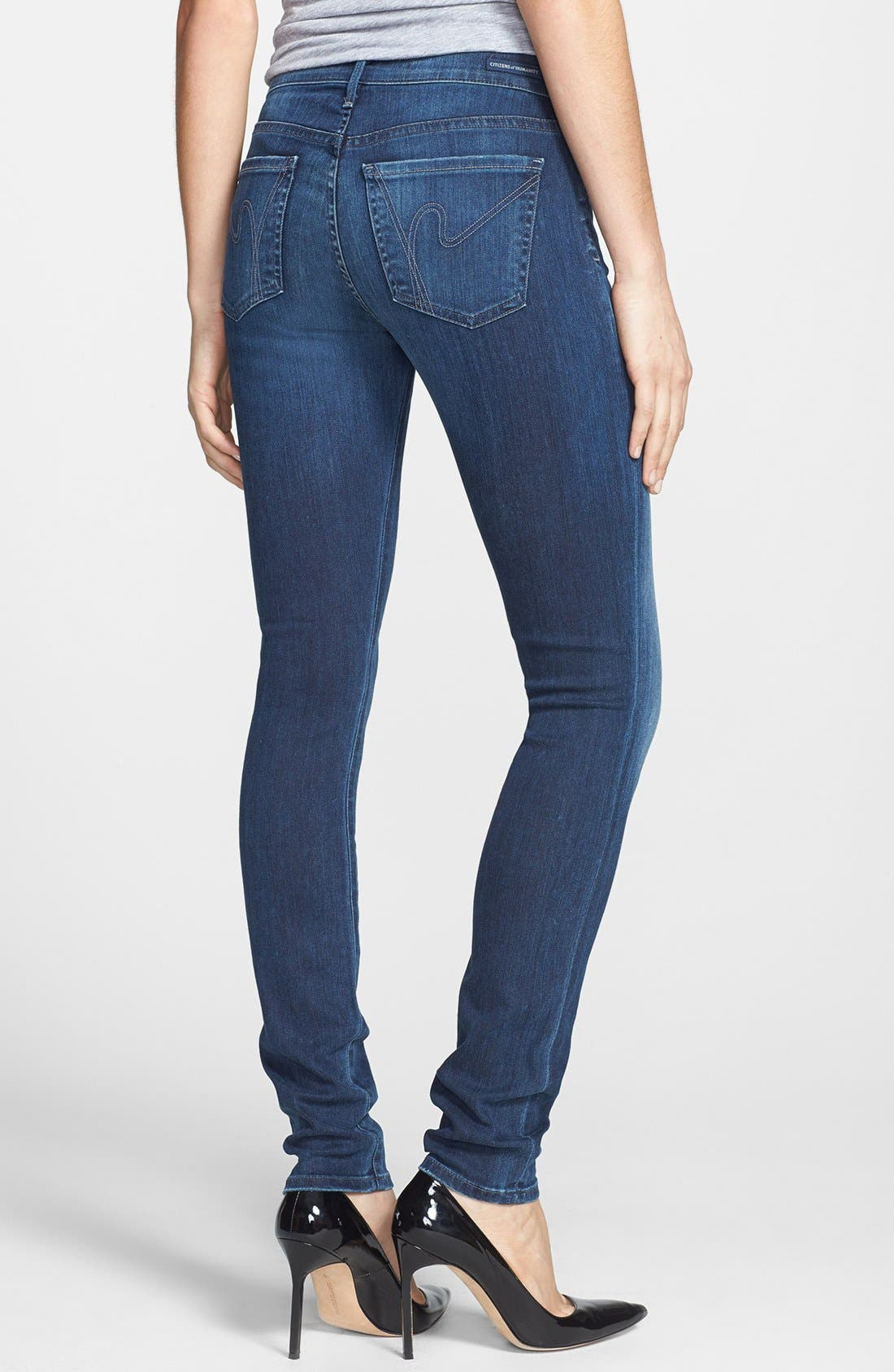 Alternate Image 2  - Citizens of Humanity Skinny Stretch Jeans (Secret)