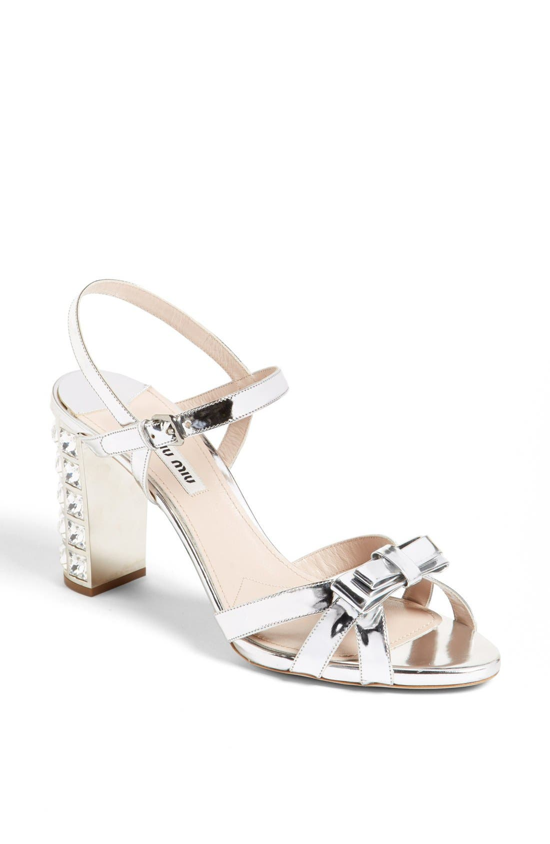 Alternate Image 1 Selected - Miu Miu Bow Ankle Strap Sandal