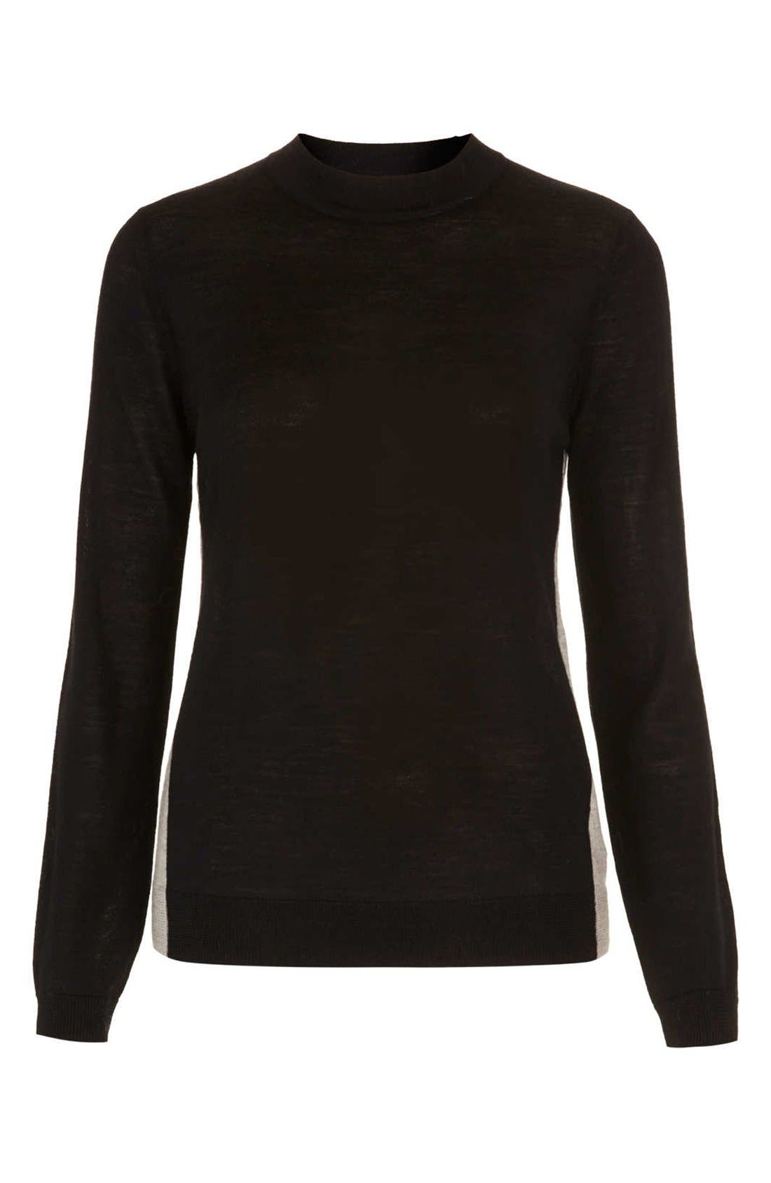 Alternate Image 3  - Topshop Colorblock Merino Wool Sweater