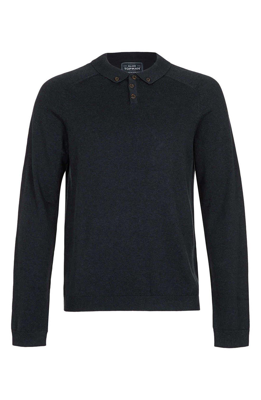 Main Image - Topman Long Sleeve Knit Polo