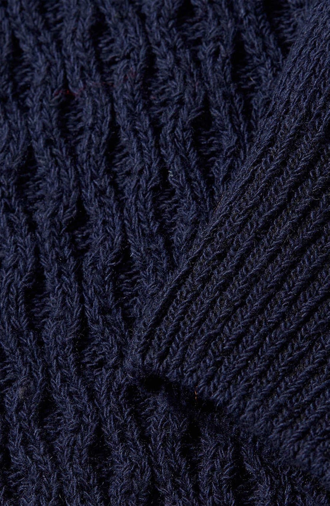 Alternate Image 3  - Topman Cable Knit Crewneck Sweater