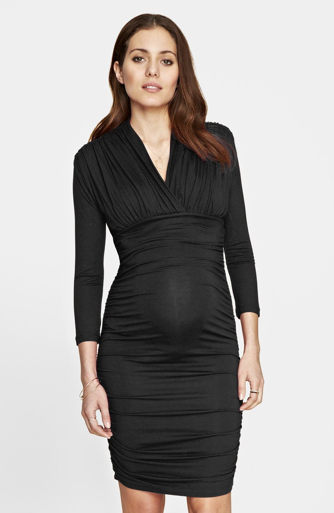 Alternate Image 1 Selected - Isabella Oliver 'Olivia' Maternity Dress