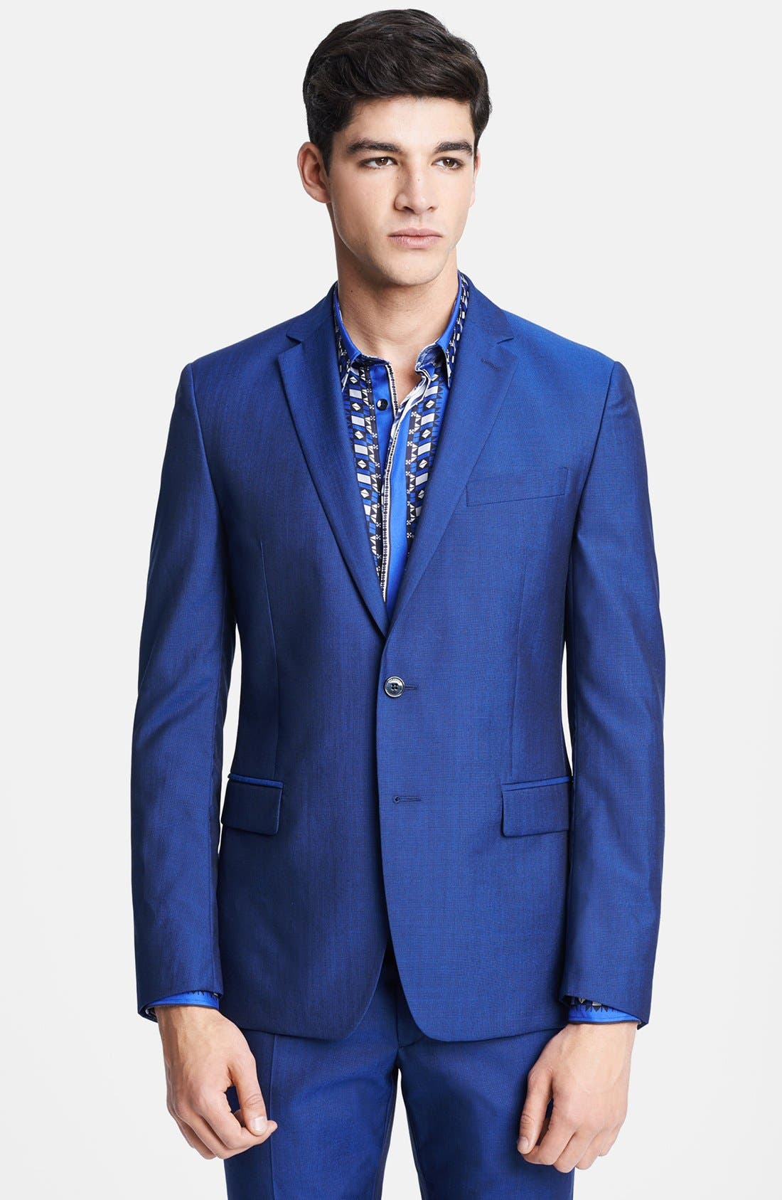 Alternate Image 3  - Versace Trend Fit Wool & Silk Suit