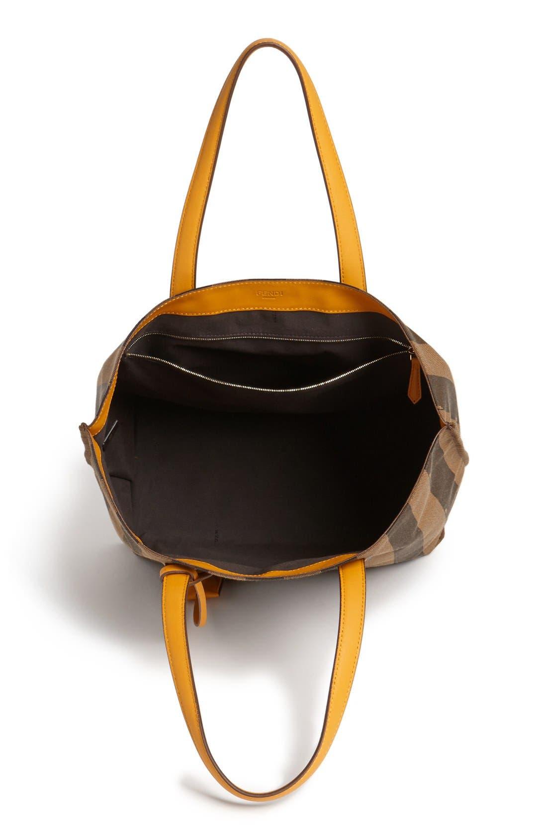 Alternate Image 3  - Fendi 'All In - Pequin' Logo Jacquard Shopper Tote