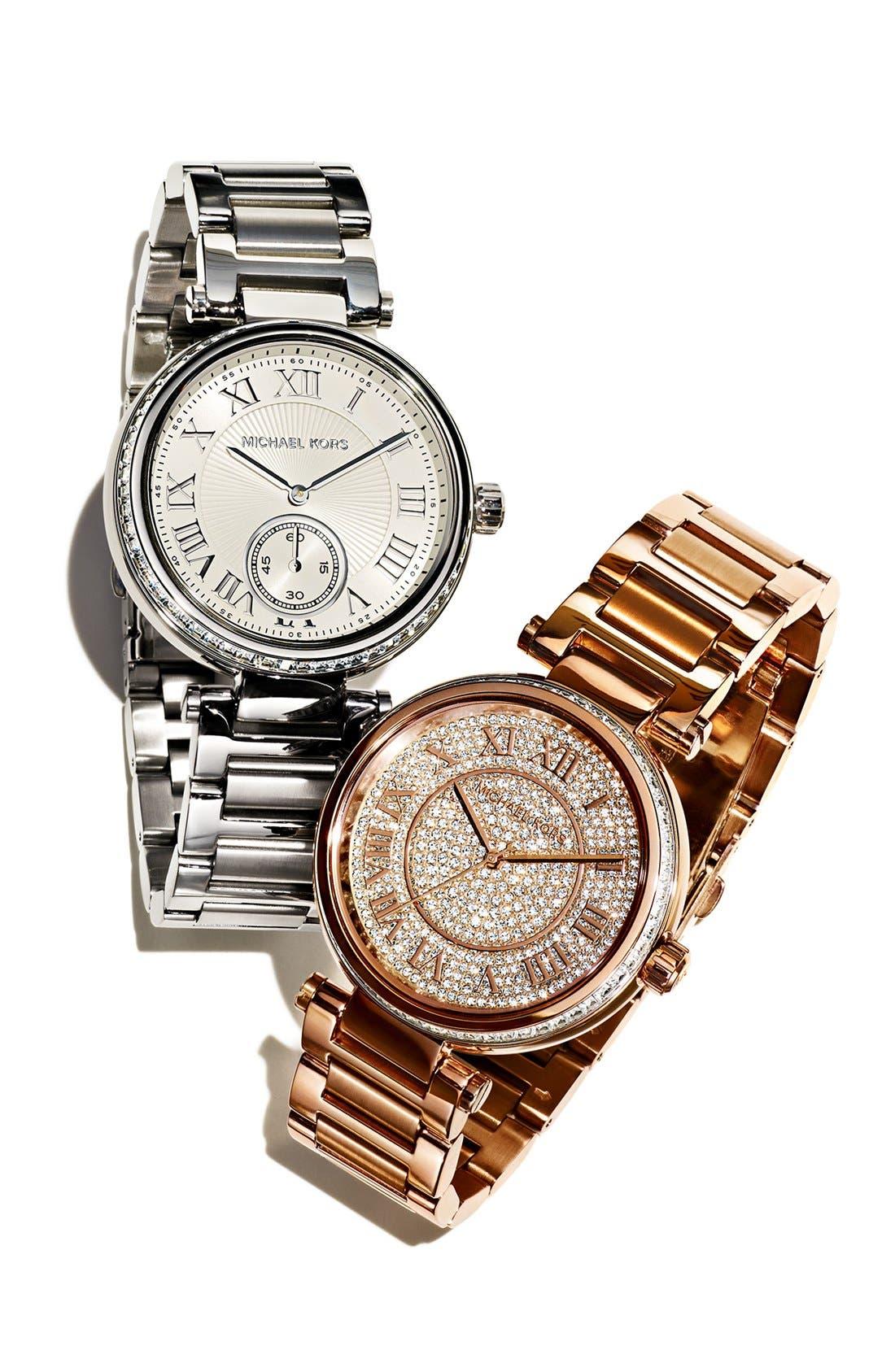 Alternate Image 4  - Michael Kors 'Skylar' Pavé Dial Bracelet Watch, 42mm