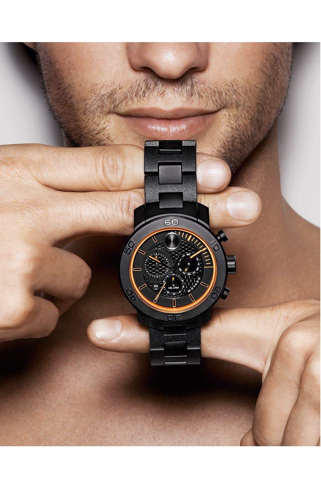Alternate Image 3  - Movado 'Bold' Chronograph Bracelet Watch, 46mm
