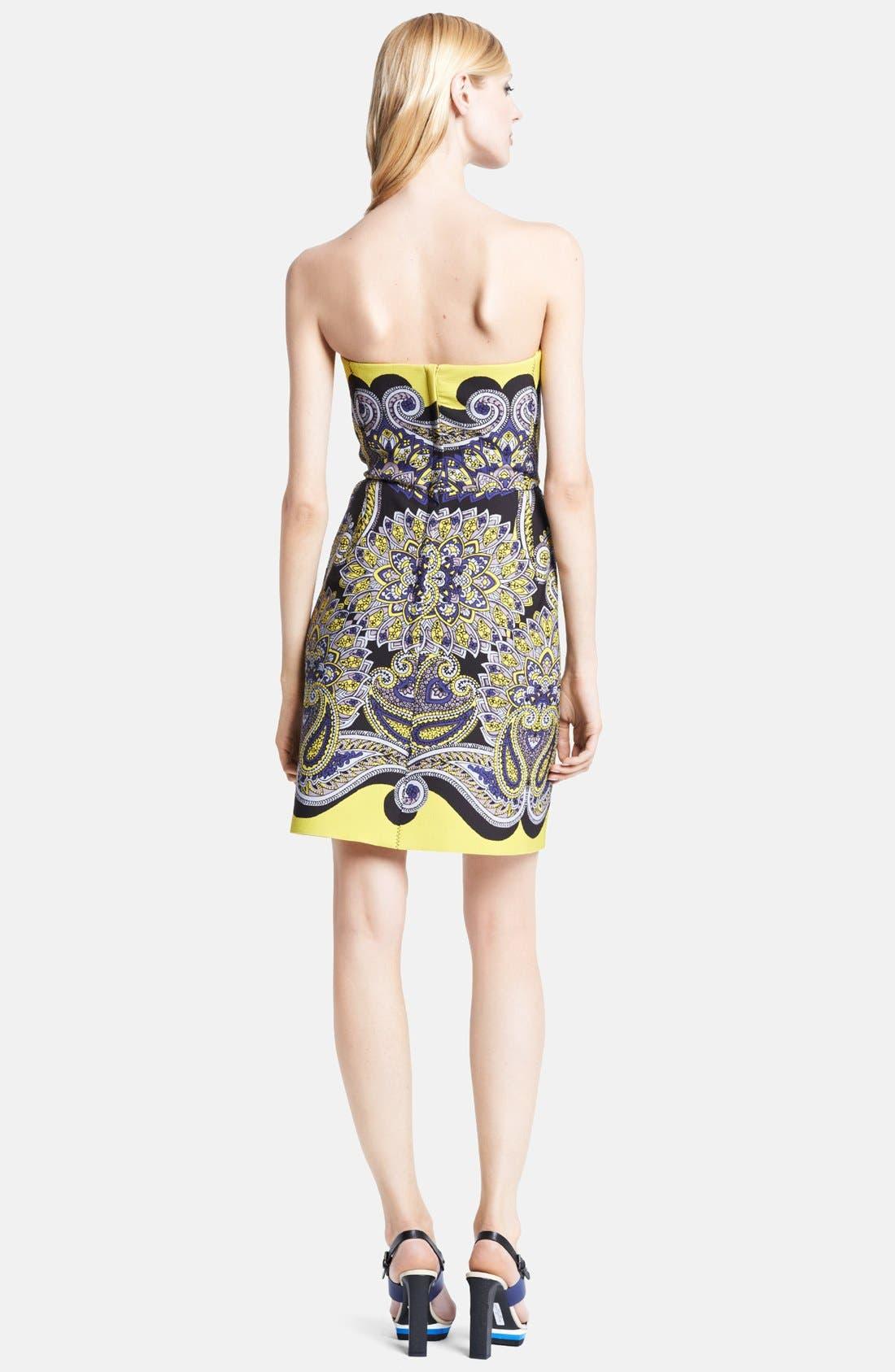 Alternate Image 2  - Lanvin Strapless Techno Piqué Bustier Dress