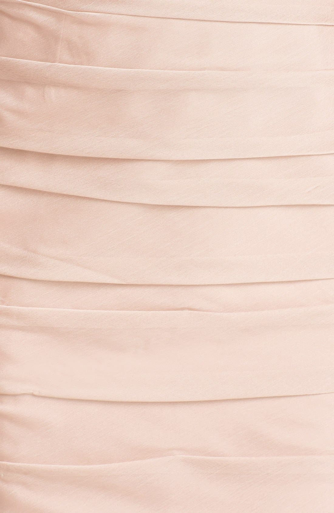 Alternate Image 3  - ML Monique Lhuillier Bridesmaids Ruched One-Shoulder Sheath Dress (Nordstrom Exclusive)