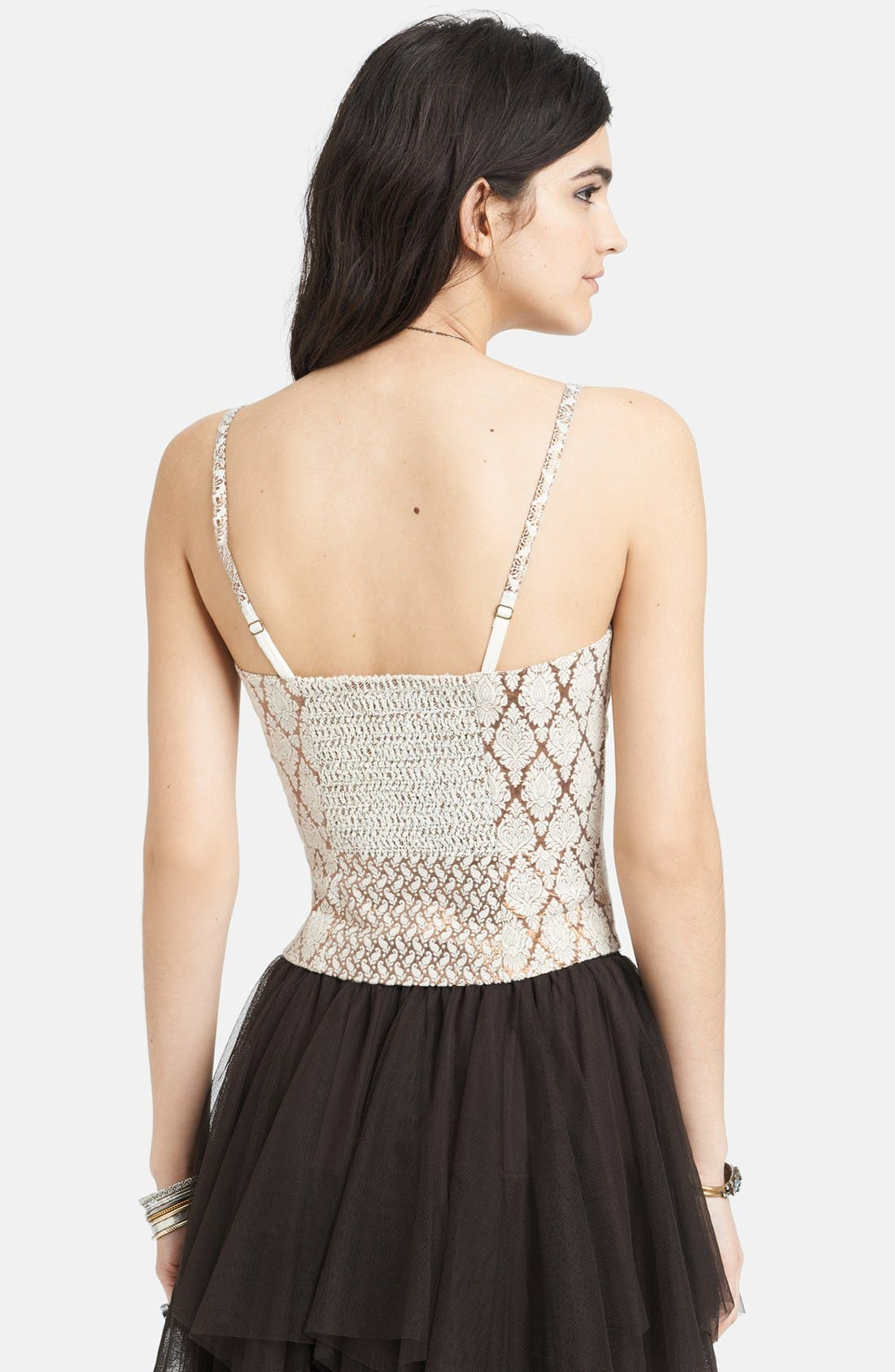 Alternate Image 2  - Free People 'Shellbourne' Metallic Jacquard Bustier Tank