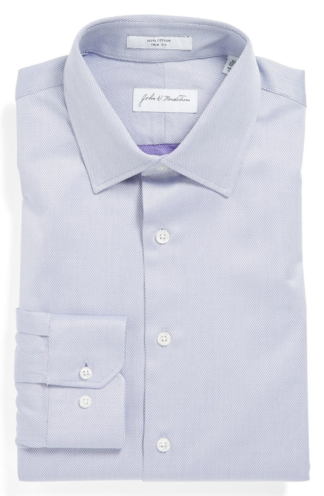 John W. Nordstromu00ae Trim Fit Cotton Dress Shirt | Nordstrom