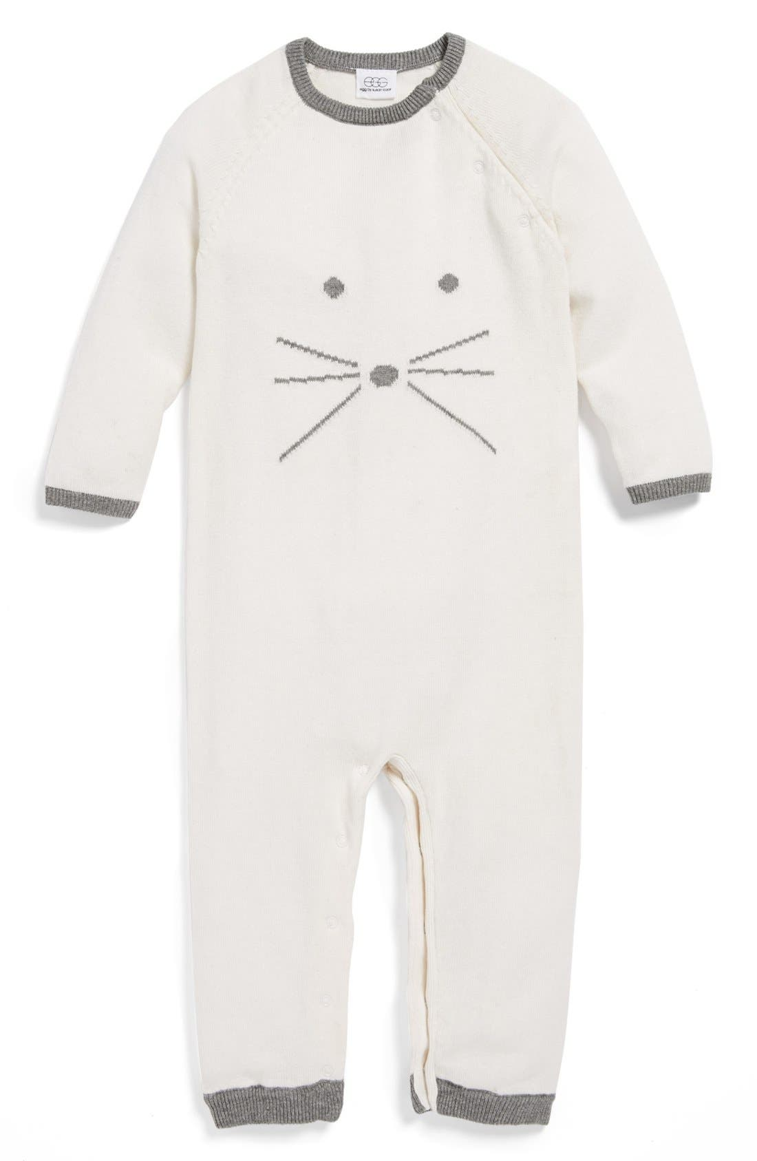 Alternate Image 1 Selected - egg by susan lazar 'Mouse' Layette Convertible Romper (Baby Girls)