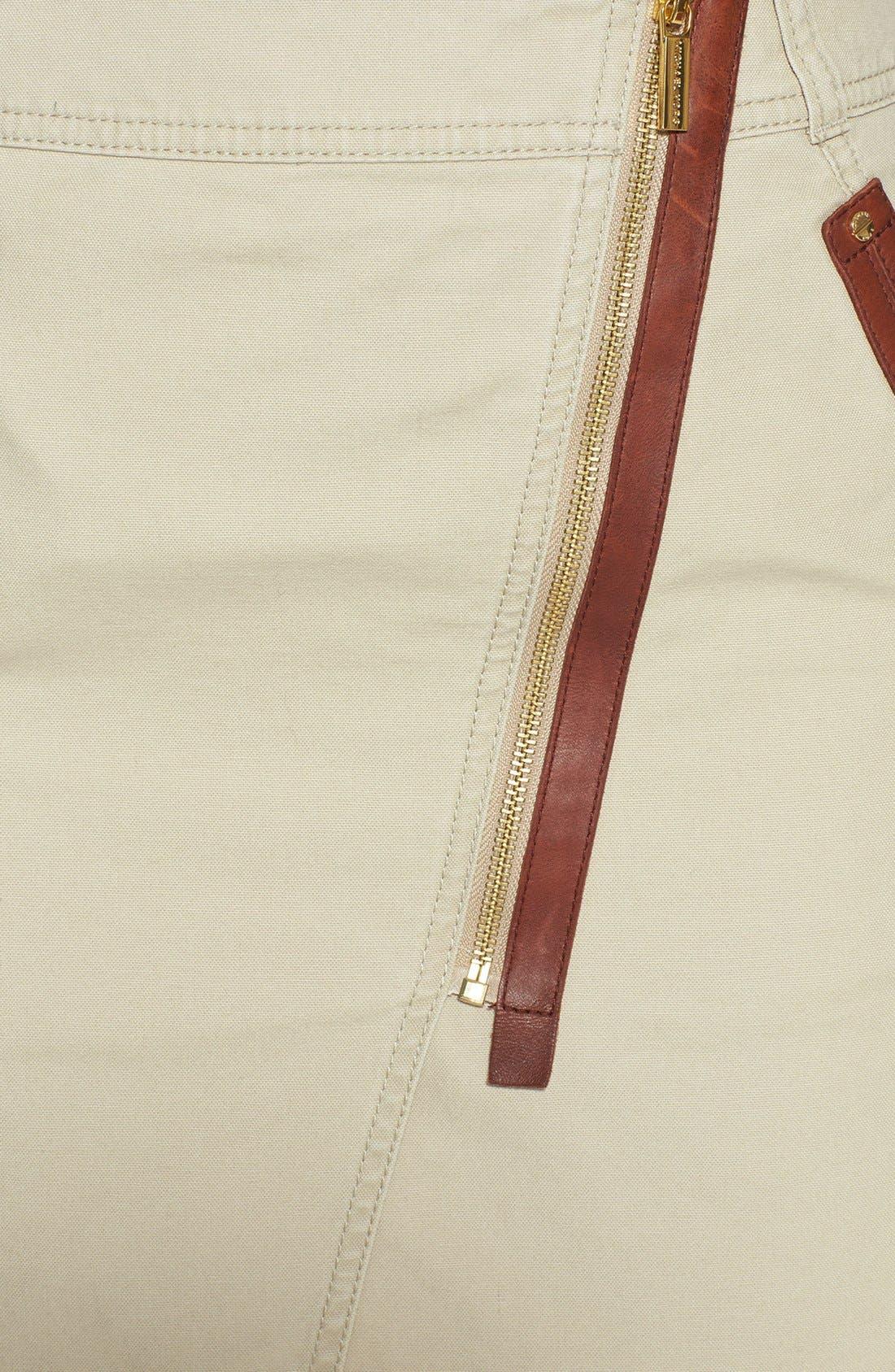 Alternate Image 4  - MICHAEL Michael Kors Asymmetrical Zip Cotton Twill Skirt