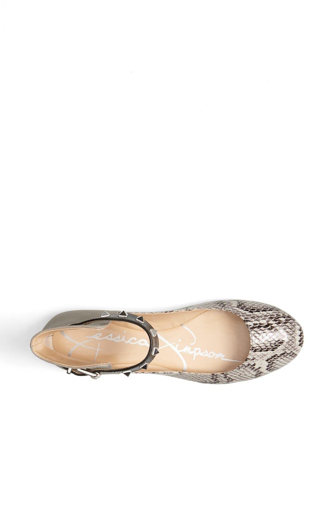 Alternate Image 3  - Jessica Simpson 'Munney' Studded Ankle Strap Flat