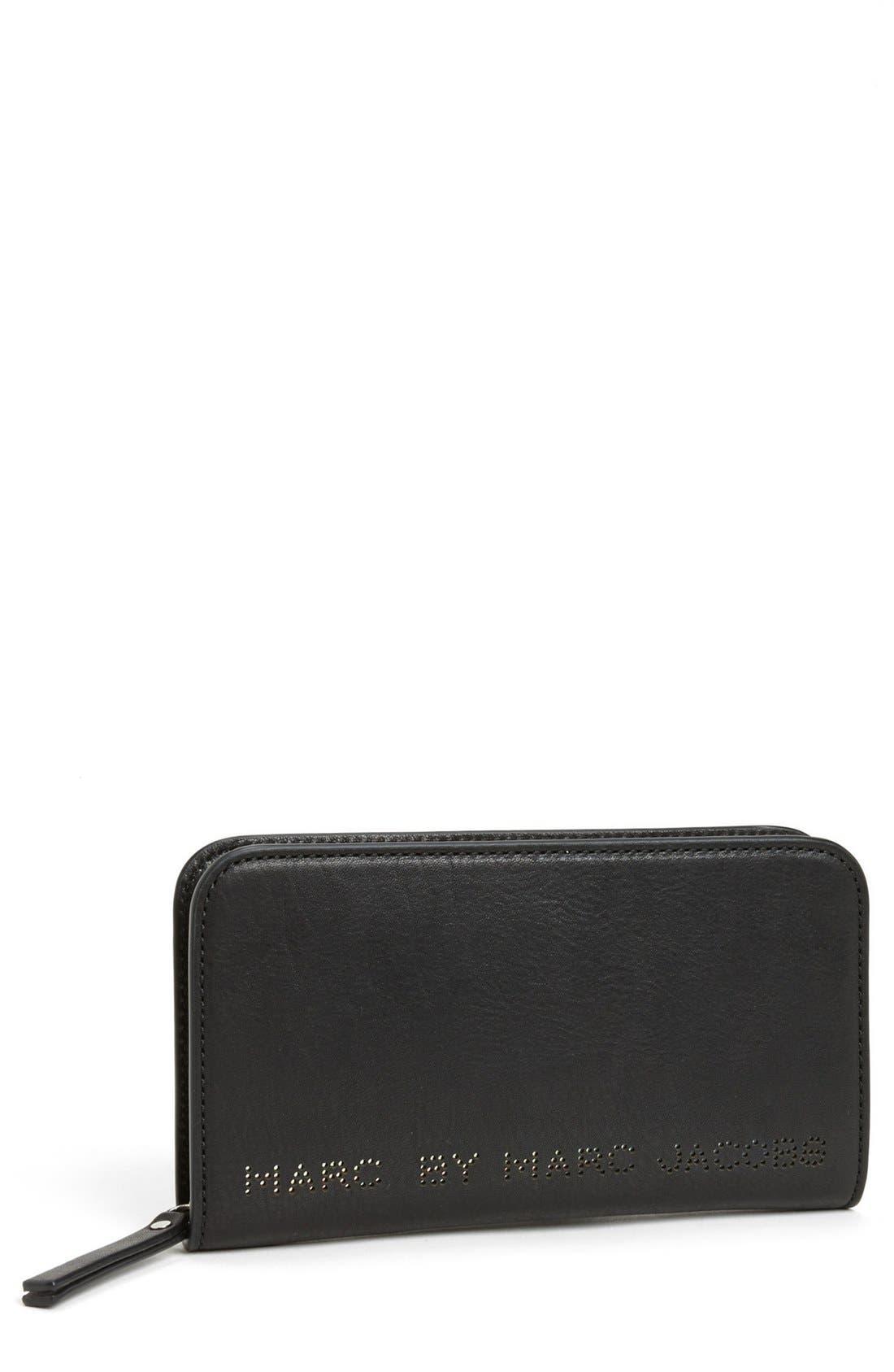 Alternate Image 1 Selected - MARC BY MARC JACOBS 'Sweet Jane - Medium' Leather Zip Wallet