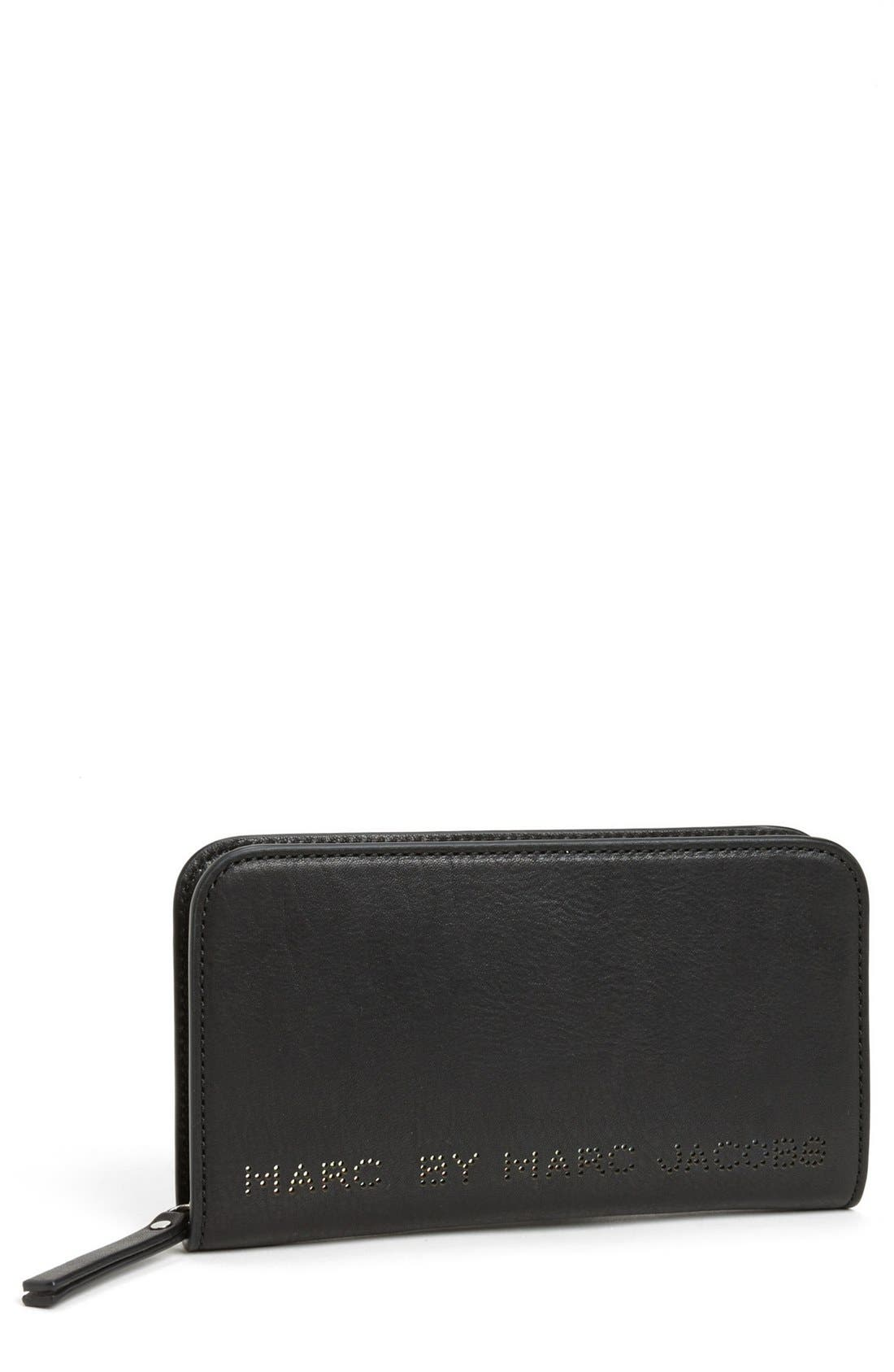 Main Image - MARC BY MARC JACOBS 'Sweet Jane - Medium' Leather Zip Wallet