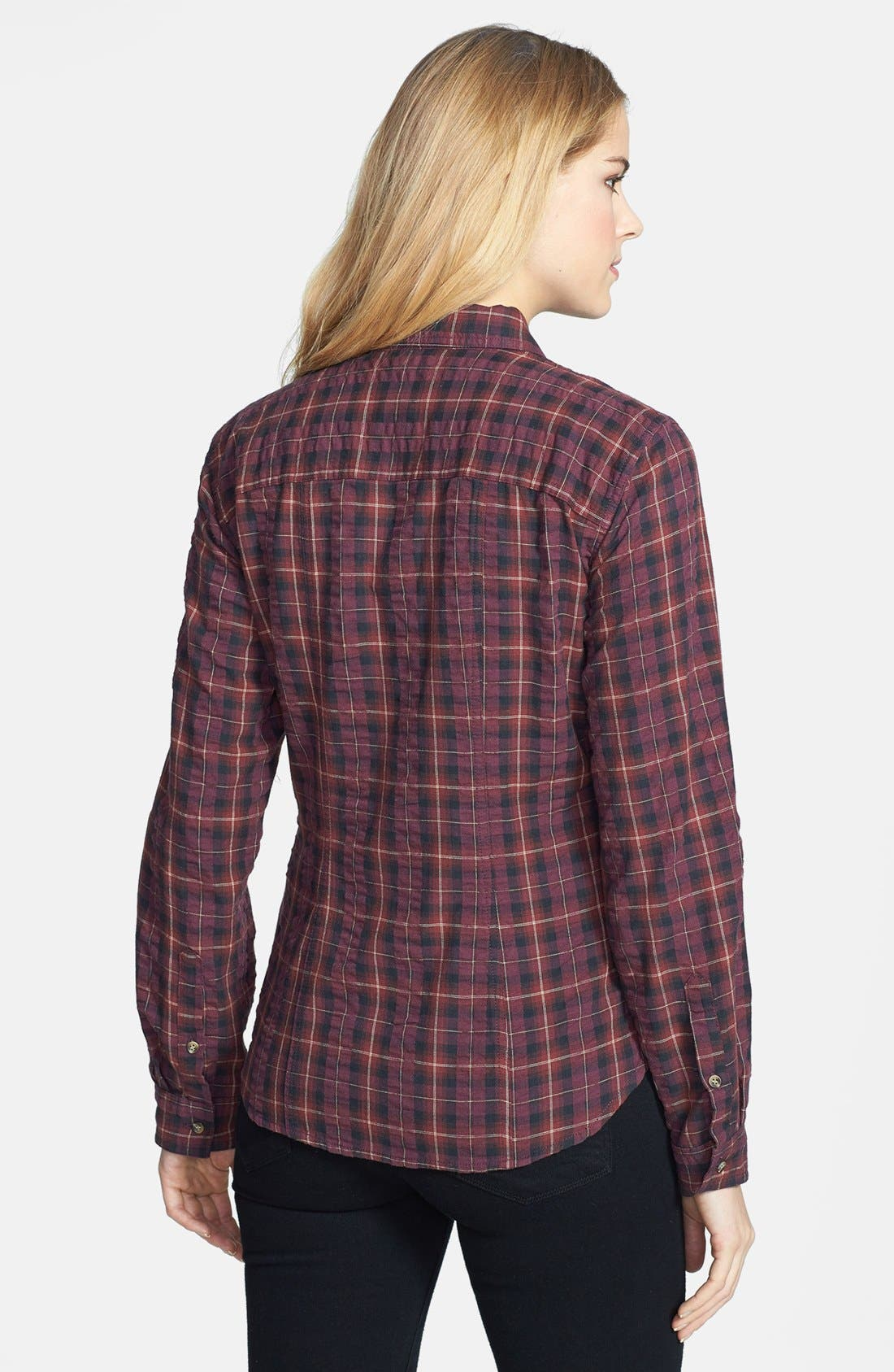 Alternate Image 2  - Sandra Ingrish Brushed Twill Tartan Shirt