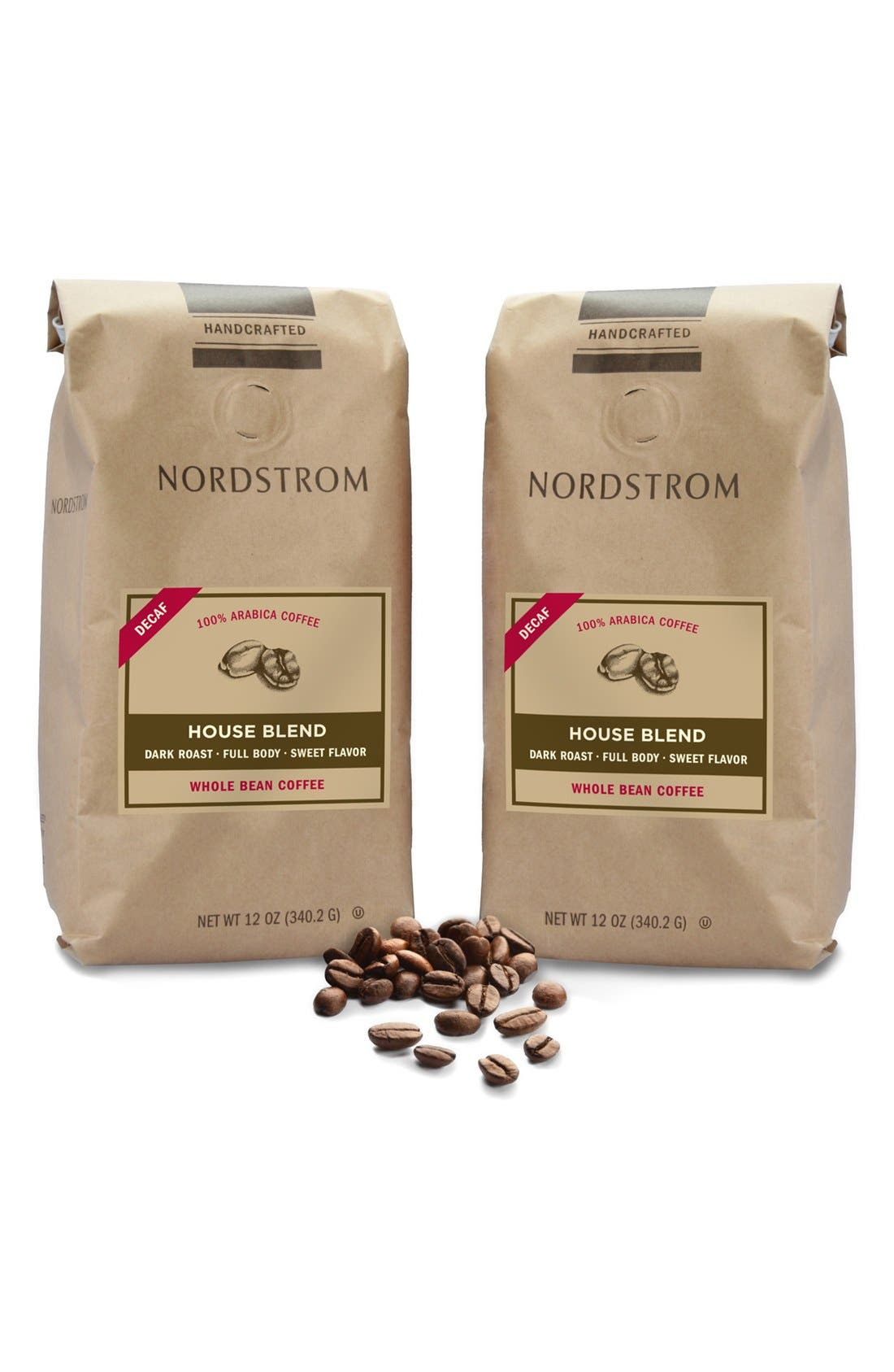 Nordstrom Coffee 'House Blend - Decaf' Whole Bean Coffee (2-Pack)