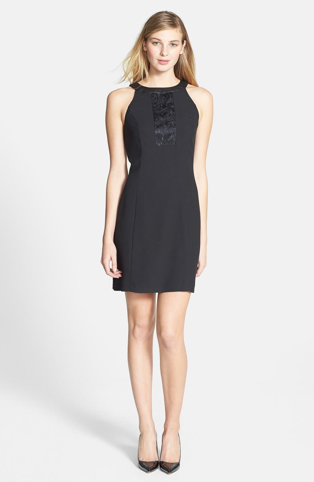 Main Image - kensie Lace Detail Crepe Dress
