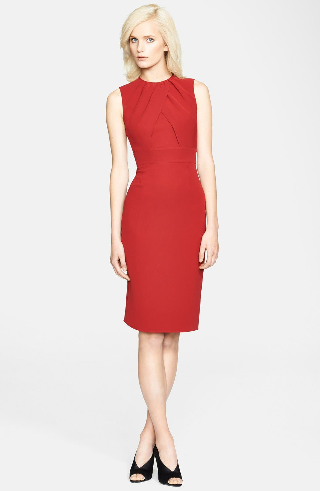Alternate Image 1 Selected - Burberry London Drape Front Mulberry Silk Dress