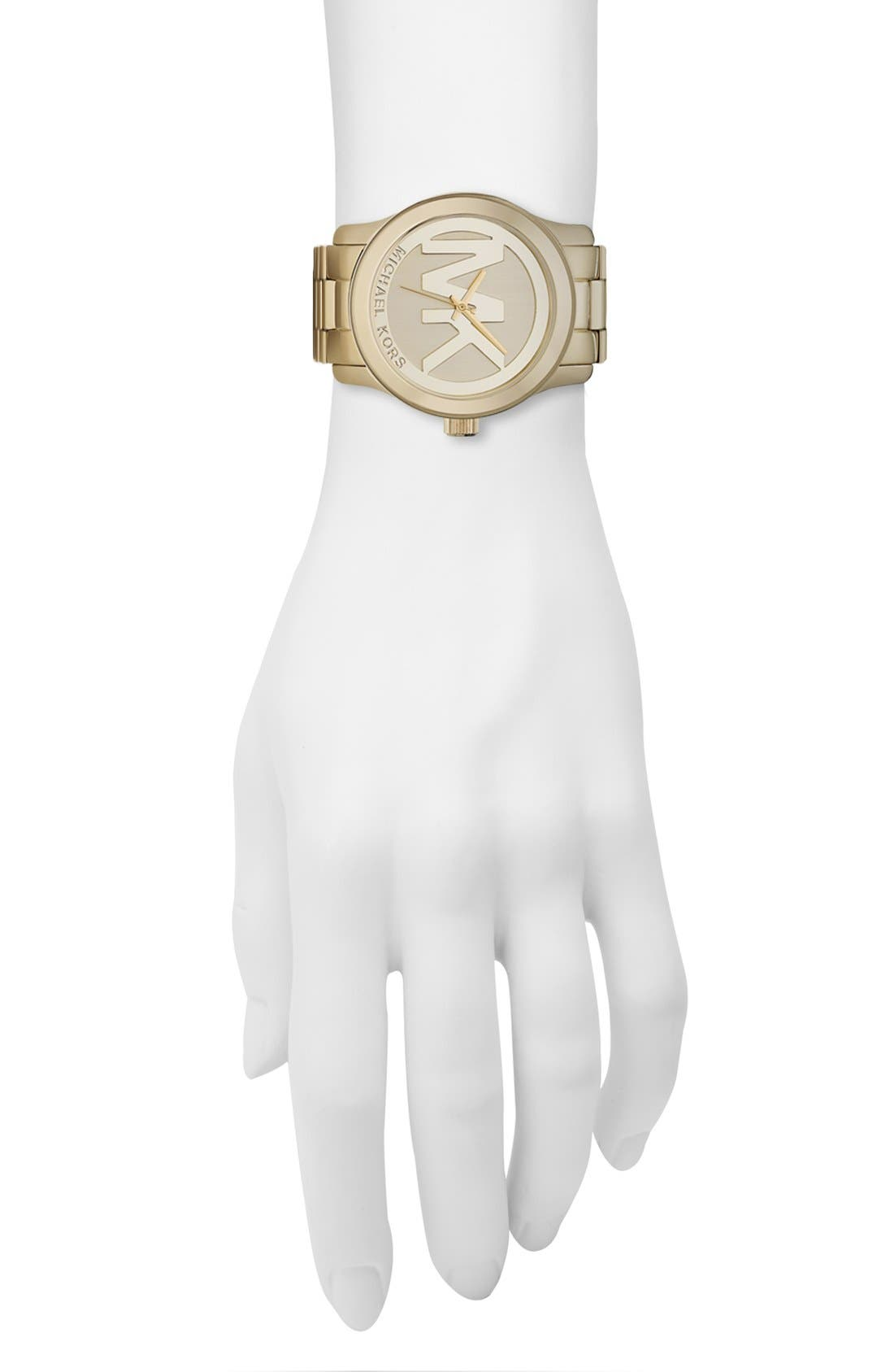 Alternate Image 4  - Michael Kors 'Runway' Logo Dial Watch