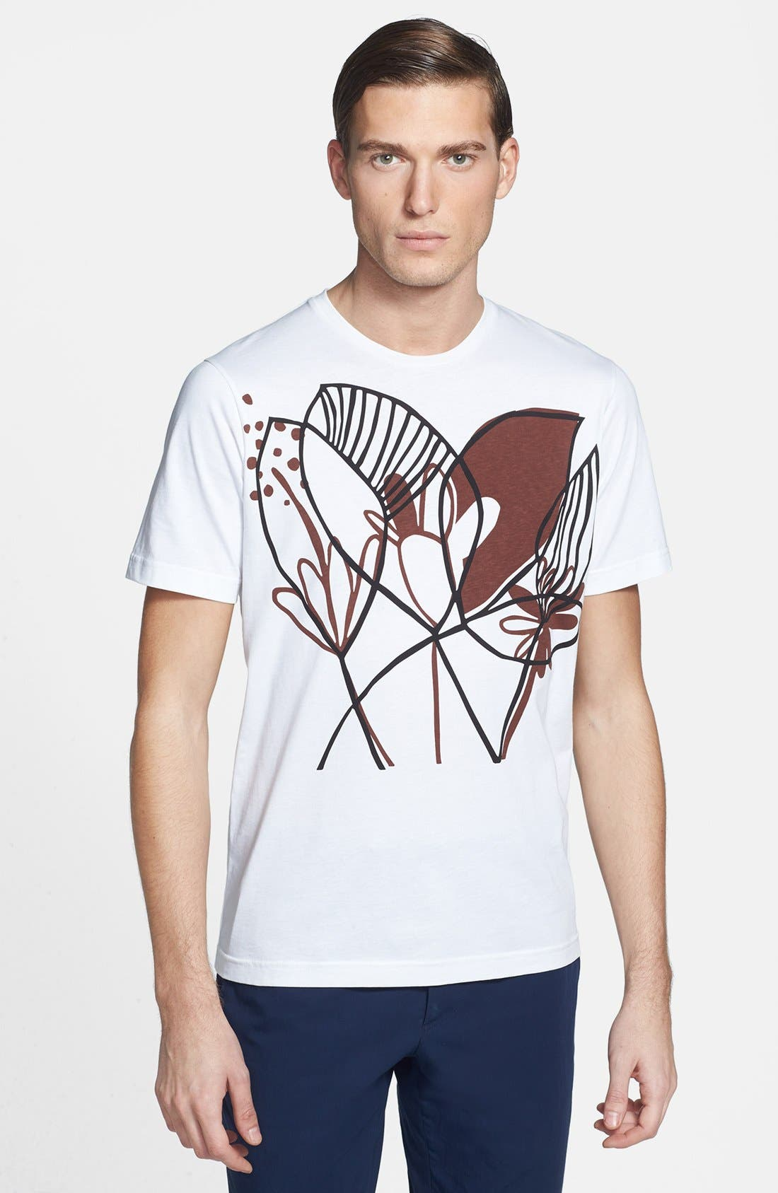 Alternate Image 1 Selected - Marni 'Katja Schwalenberg Leaf' Graphic T-Shirt