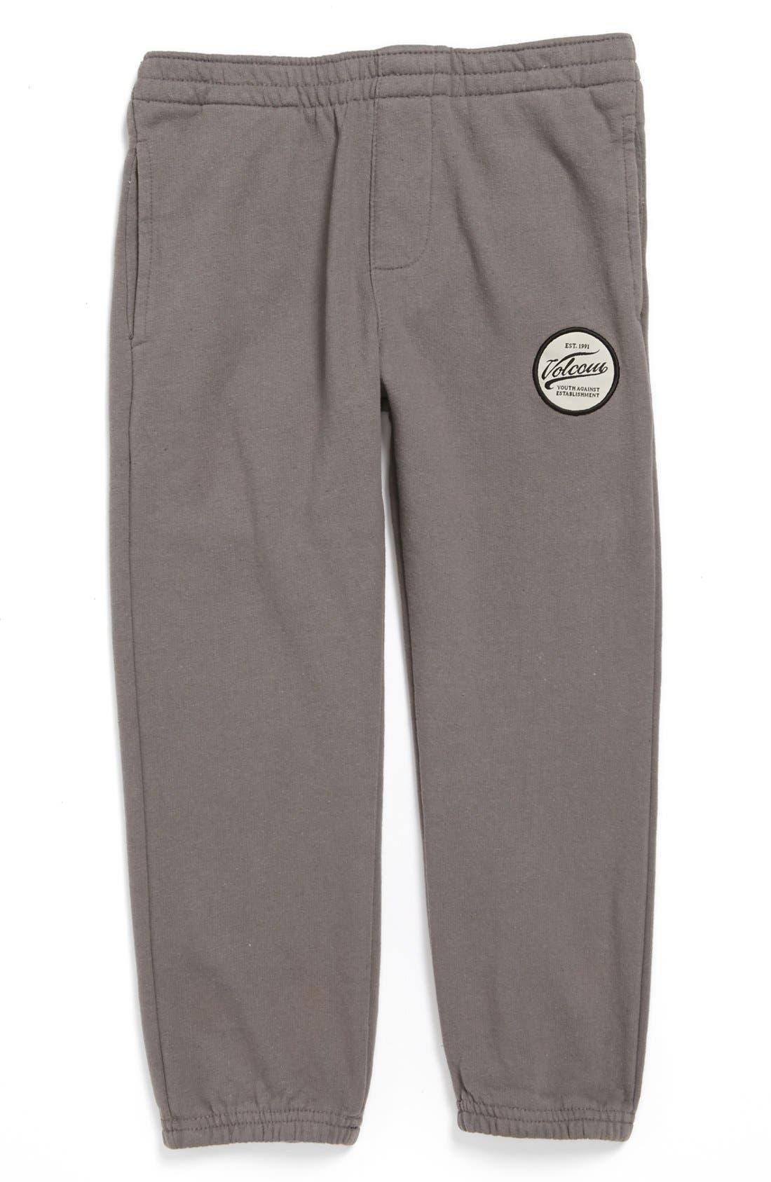 Main Image - Volcom 'Programer' Fleece Lined Sweatpants (Little Boys)