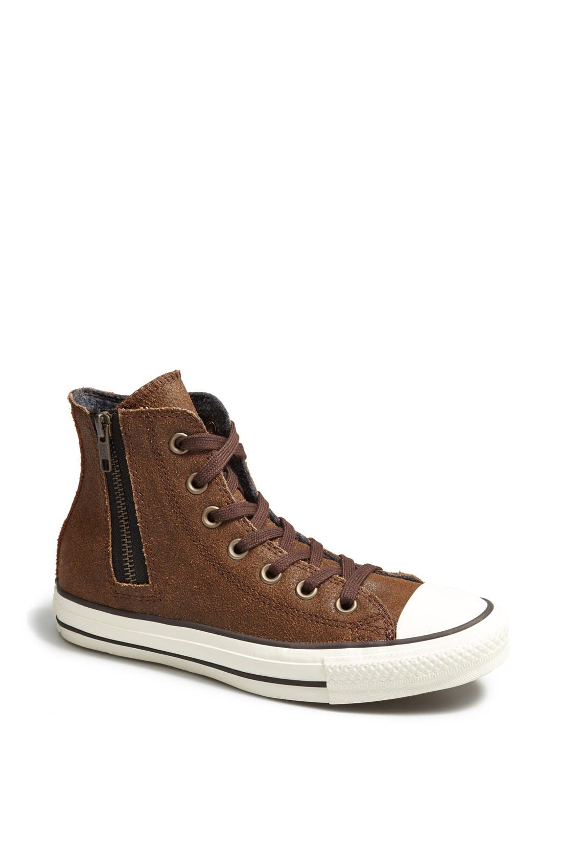 Main Image - Converse Chuck Taylor® 'Aviator' Side Zip Leather High Top Sneaker (Women)