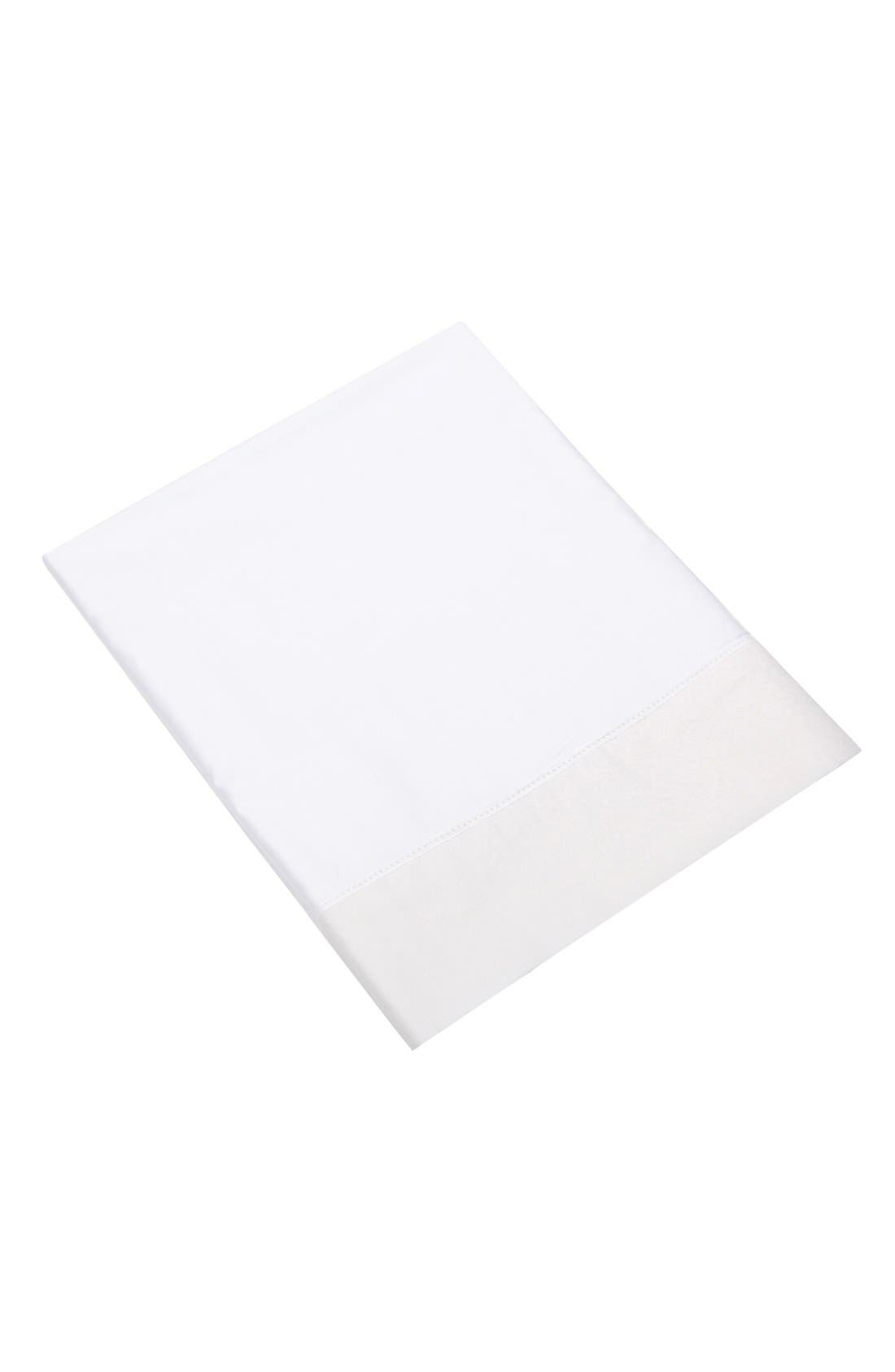 Alternate Image 1 Selected - Blissliving Home 'Mayfair White' Queen Flat Sheet