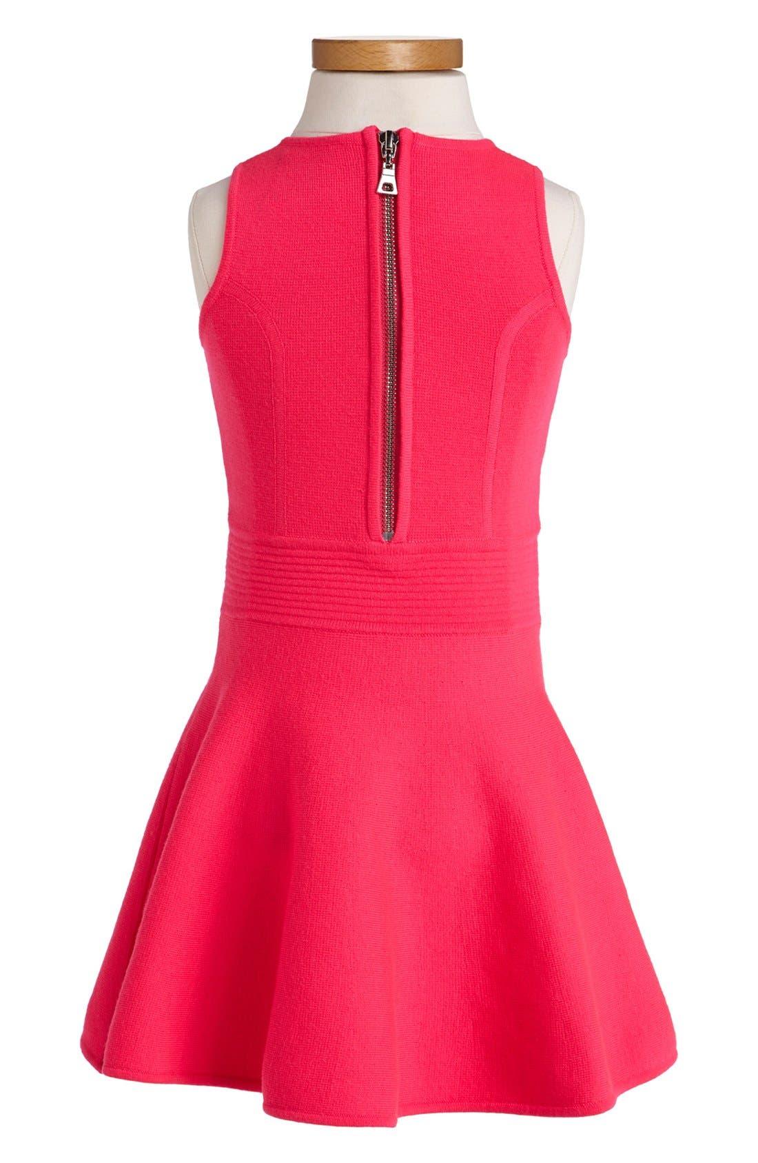 Alternate Image 2  - Milly Minis Pleated Flare Dress (Toddler Girls, Little Girls & Big Girls)