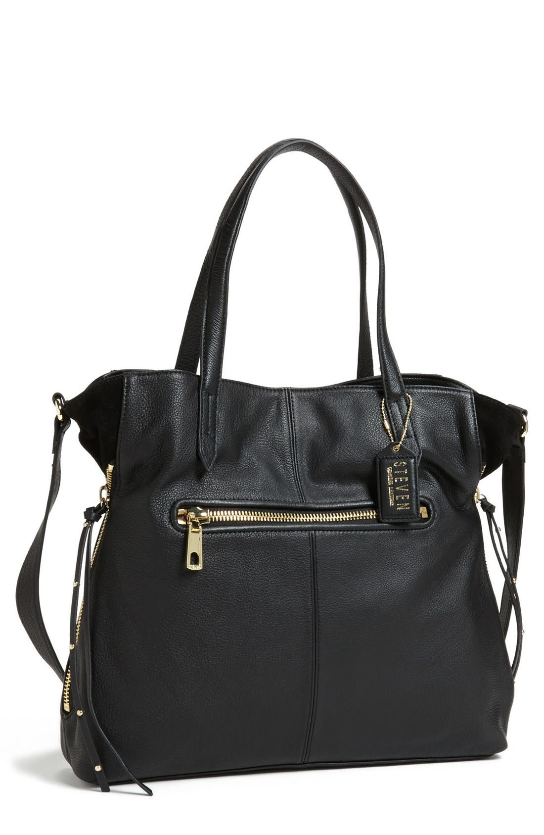 Alternate Image 1 Selected - Steven by Steve Madden 'Prague' Leather Tote