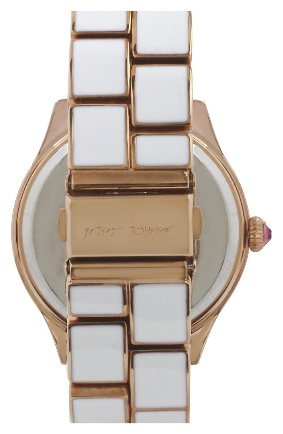 Alternate Image 2  - Betsey Johnson Round Bracelet Watch, 42mm
