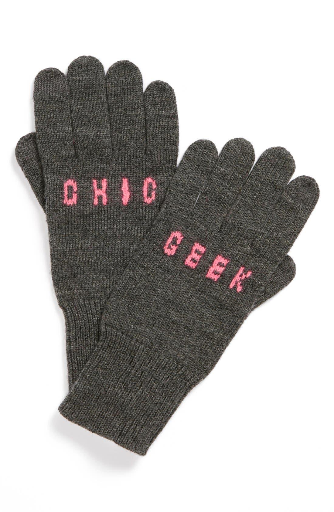 Main Image - kate spade new york 'geek chic' merino wool gloves