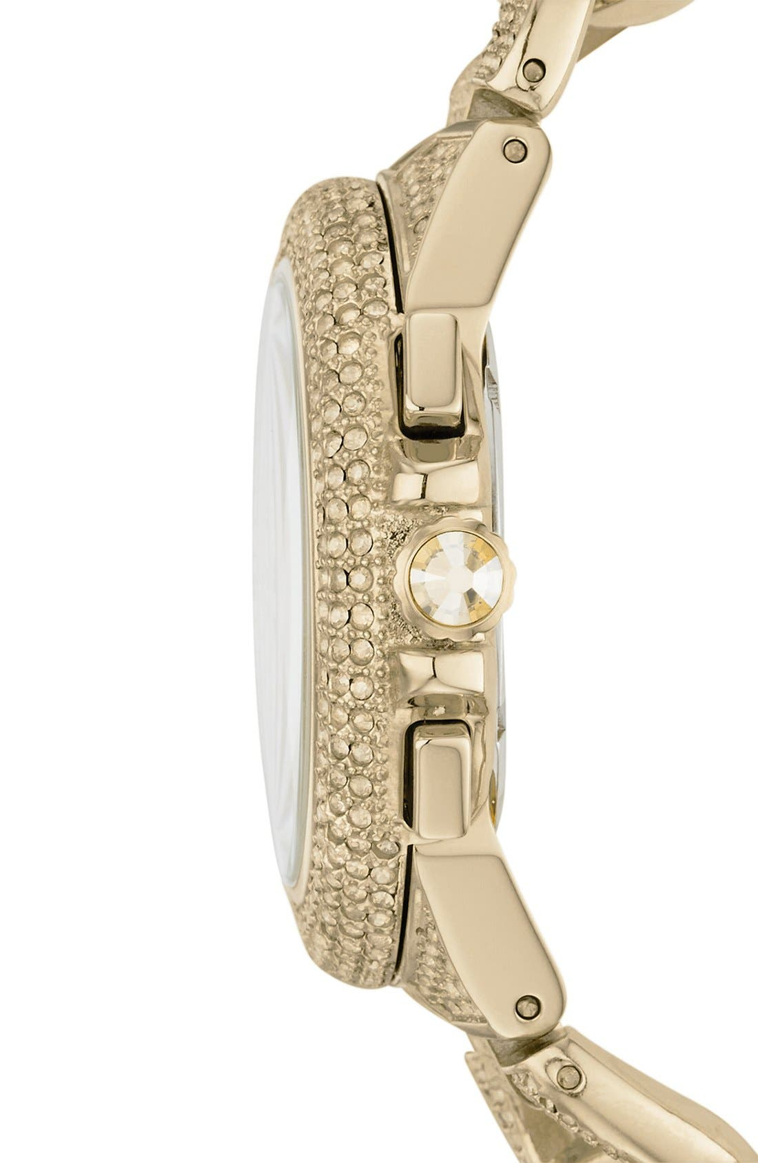 Alternate Image 3  - Michael Kors 'Camille' Crystal Encrusted Chain Link Watch, 44mm