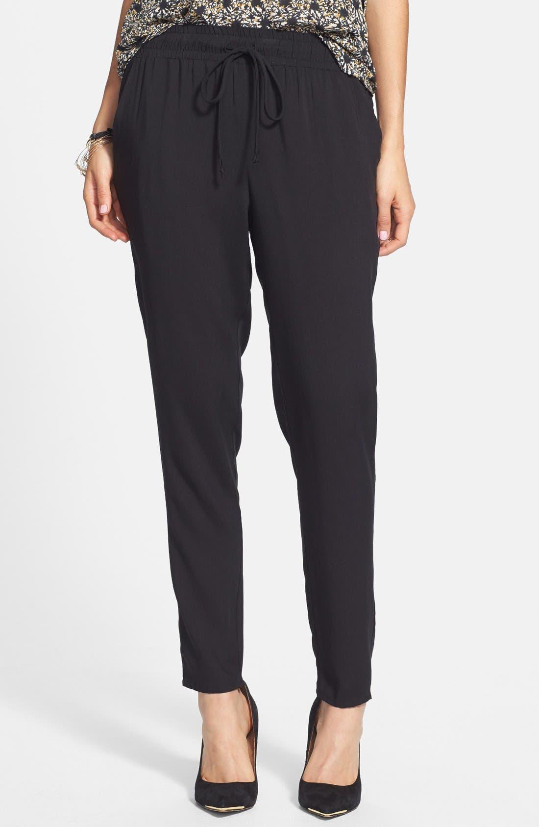 Alternate Image 1 Selected - Lush Track Pants (Juniors)
