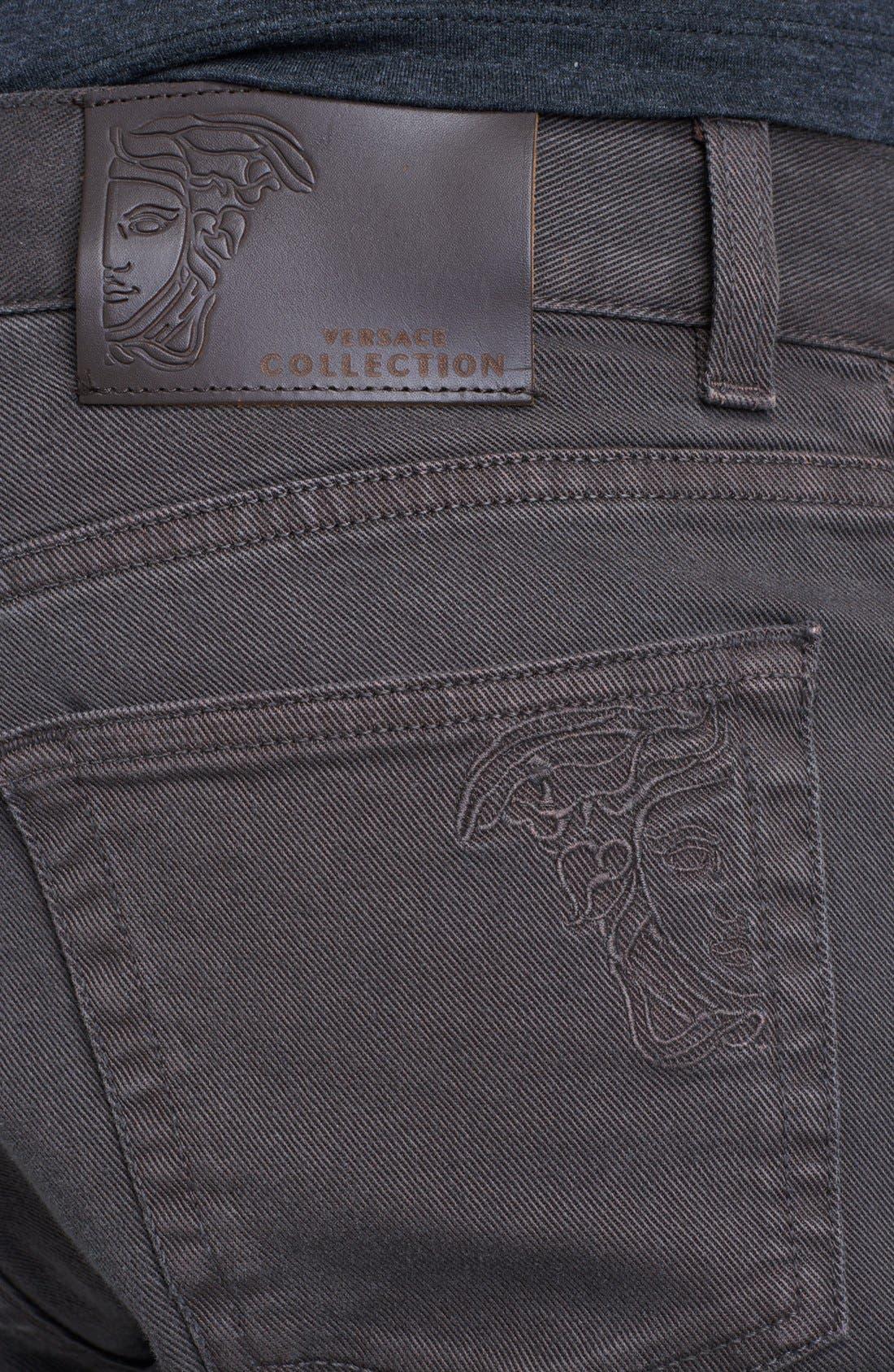 Alternate Image 4  - Versace Straight Leg Jeans