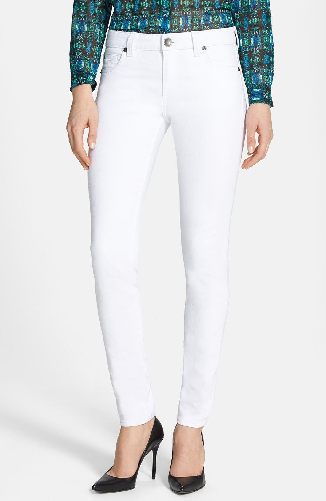 Main Image - KUT from the Kloth 'Mia' Skinny Jeans (White)