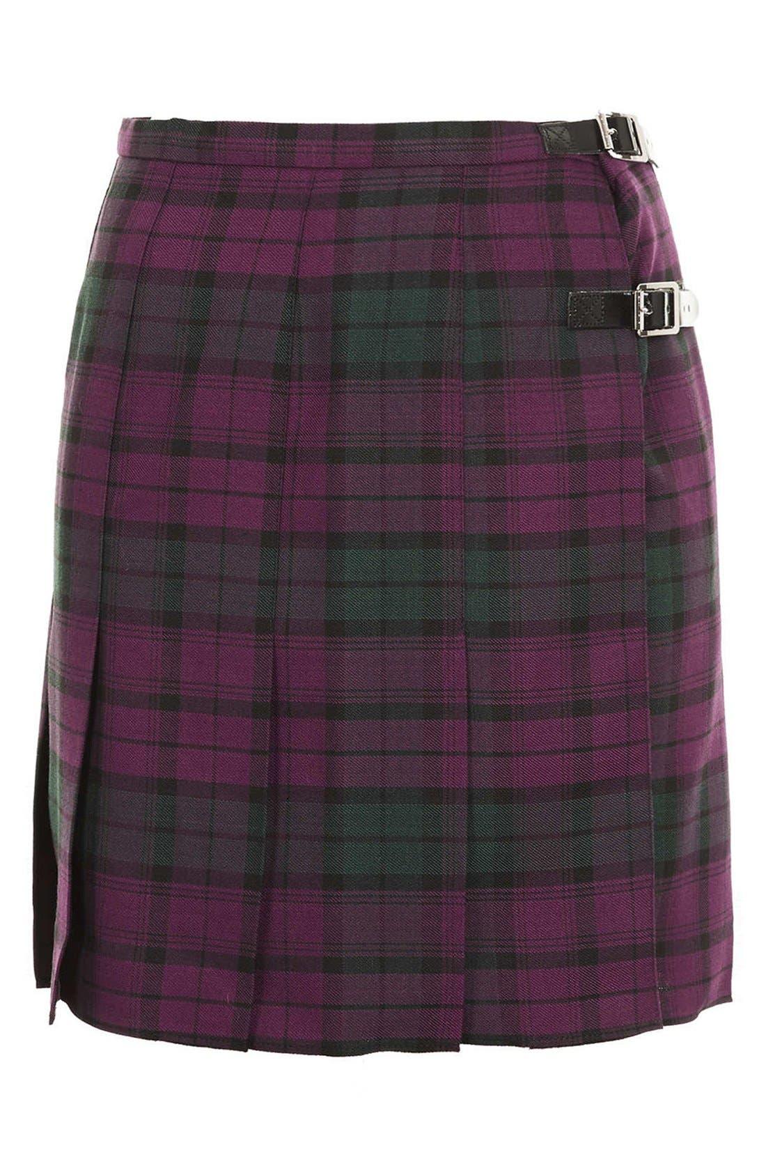 Alternate Image 3  - Topshop Plaid Kilt Skirt