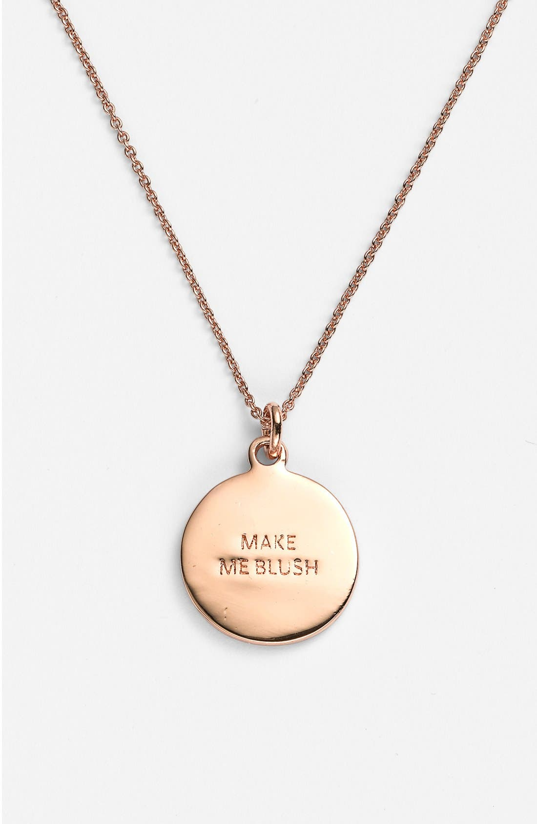 Alternate Image 2  - kate spade new york 'idiom - make me blush' boxed pavé pendant necklace