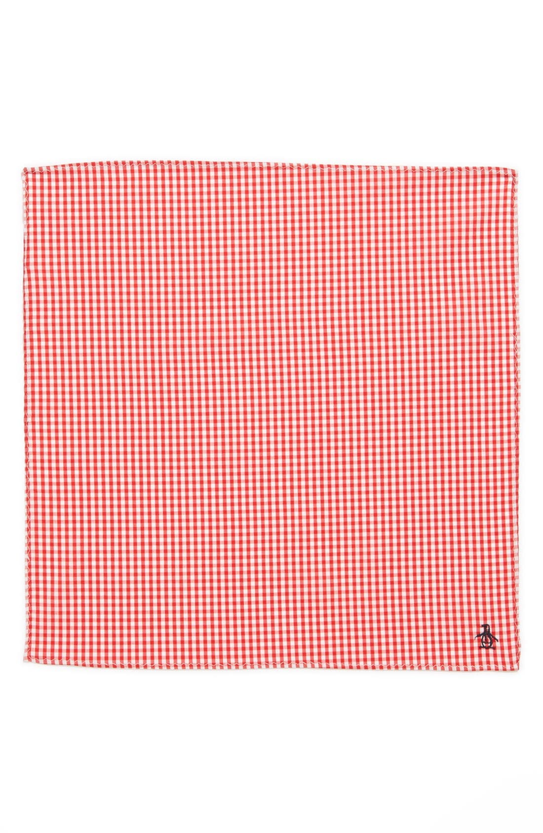 Alternate Image 3  - Original Penguin 'Pace Mini Check' Cotton Pocket Square