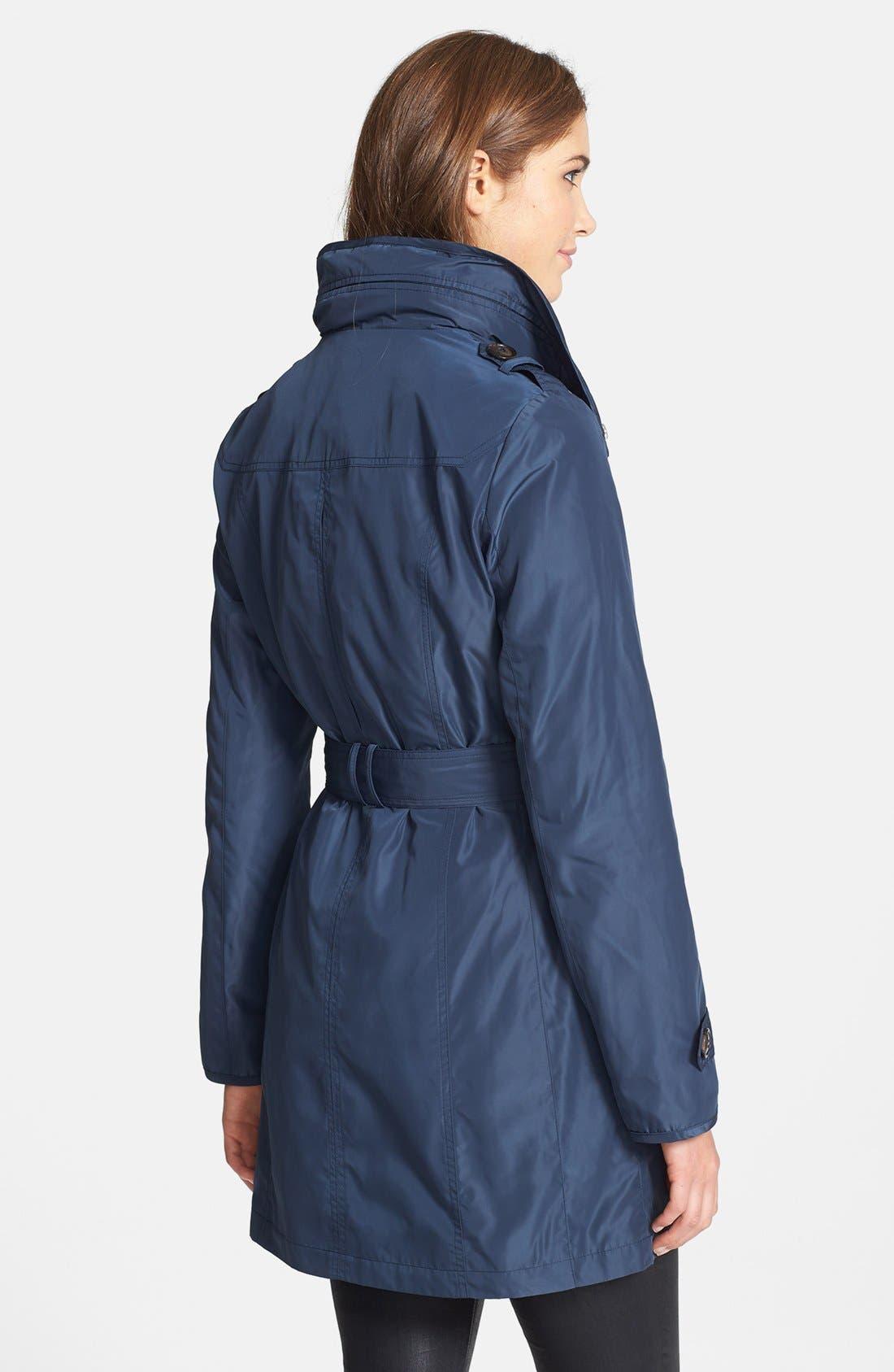 Alternate Image 2  - Ellen Tracy Belted Techno Raincoat (Online Only)