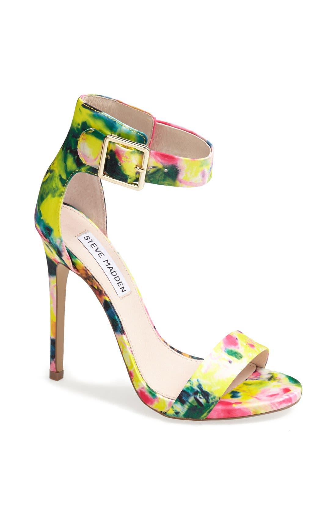 Alternate Image 1 Selected - Steve Madden 'Marlenee' Floral Print Sandal