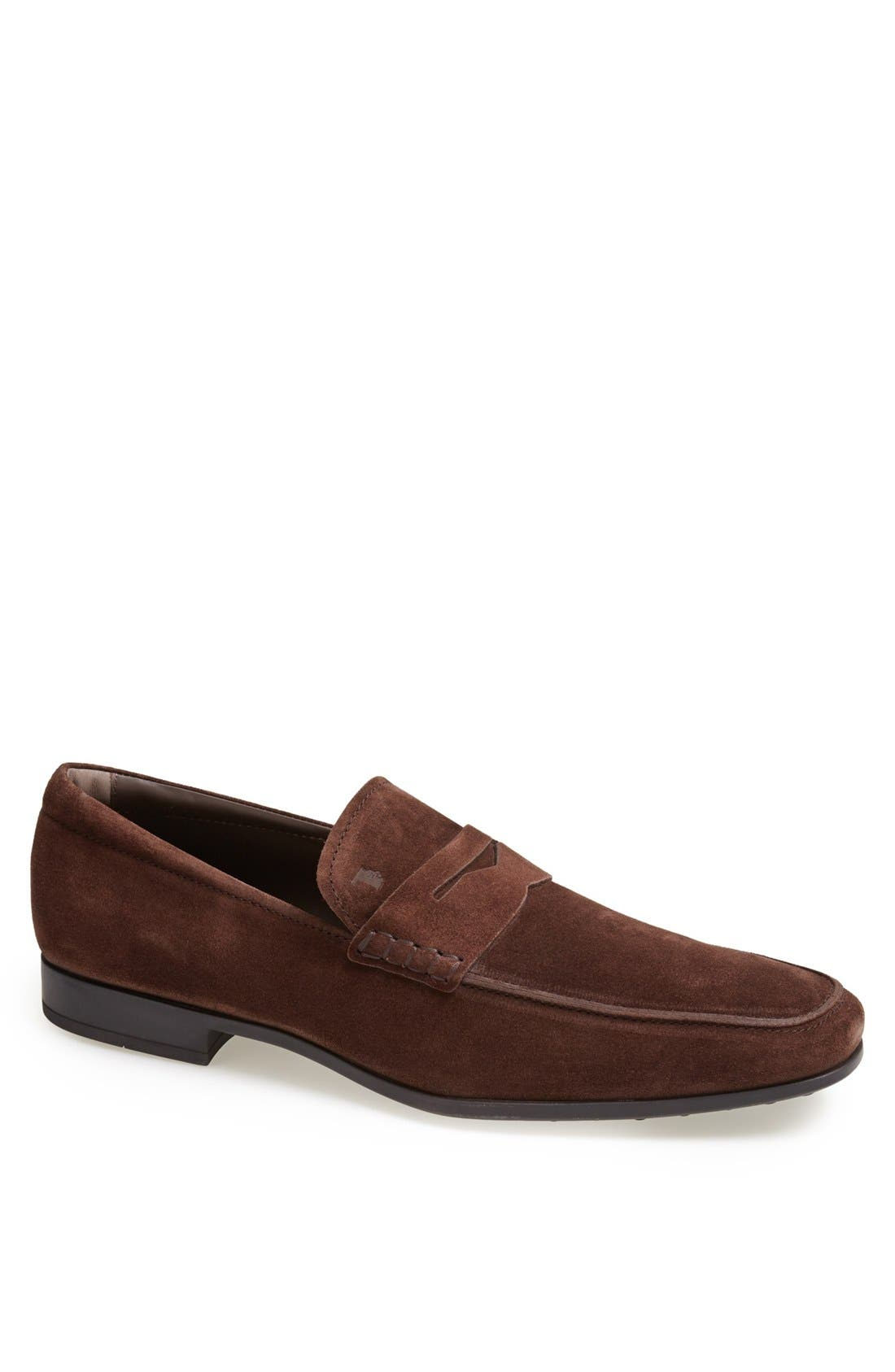 Alternate Image 1 Selected - Tod's 'Gomma' Suede Penny Loafer