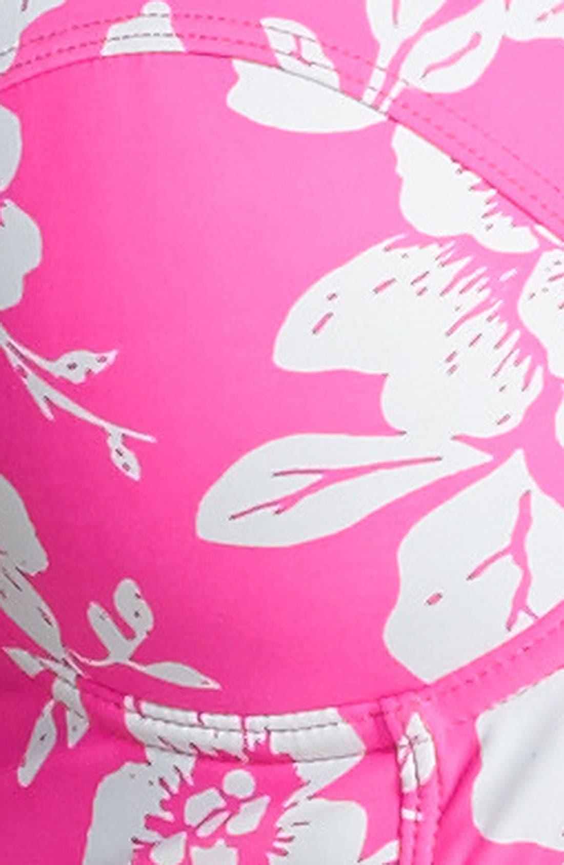 Alternate Image 5  - Roxy 'Beach Babe' Underwire Push-Up Bustier Bikini Top