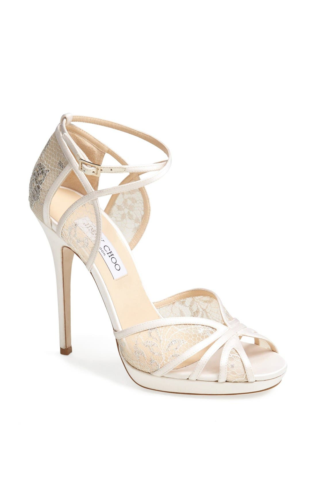 Alternate Image 1 Selected - Jimmy Choo 'Fayme' Lace Platform Sandal