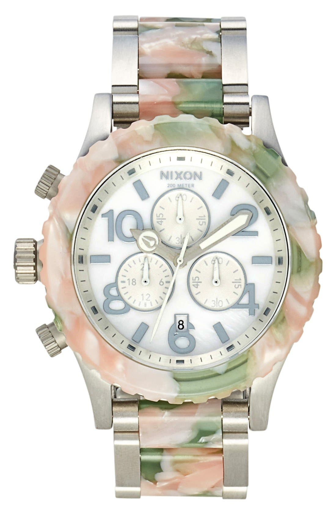 Alternate Image 1 Selected - Nixon 'The 42-20 Chrono Watercolor' Bracelet Watch, 42mm