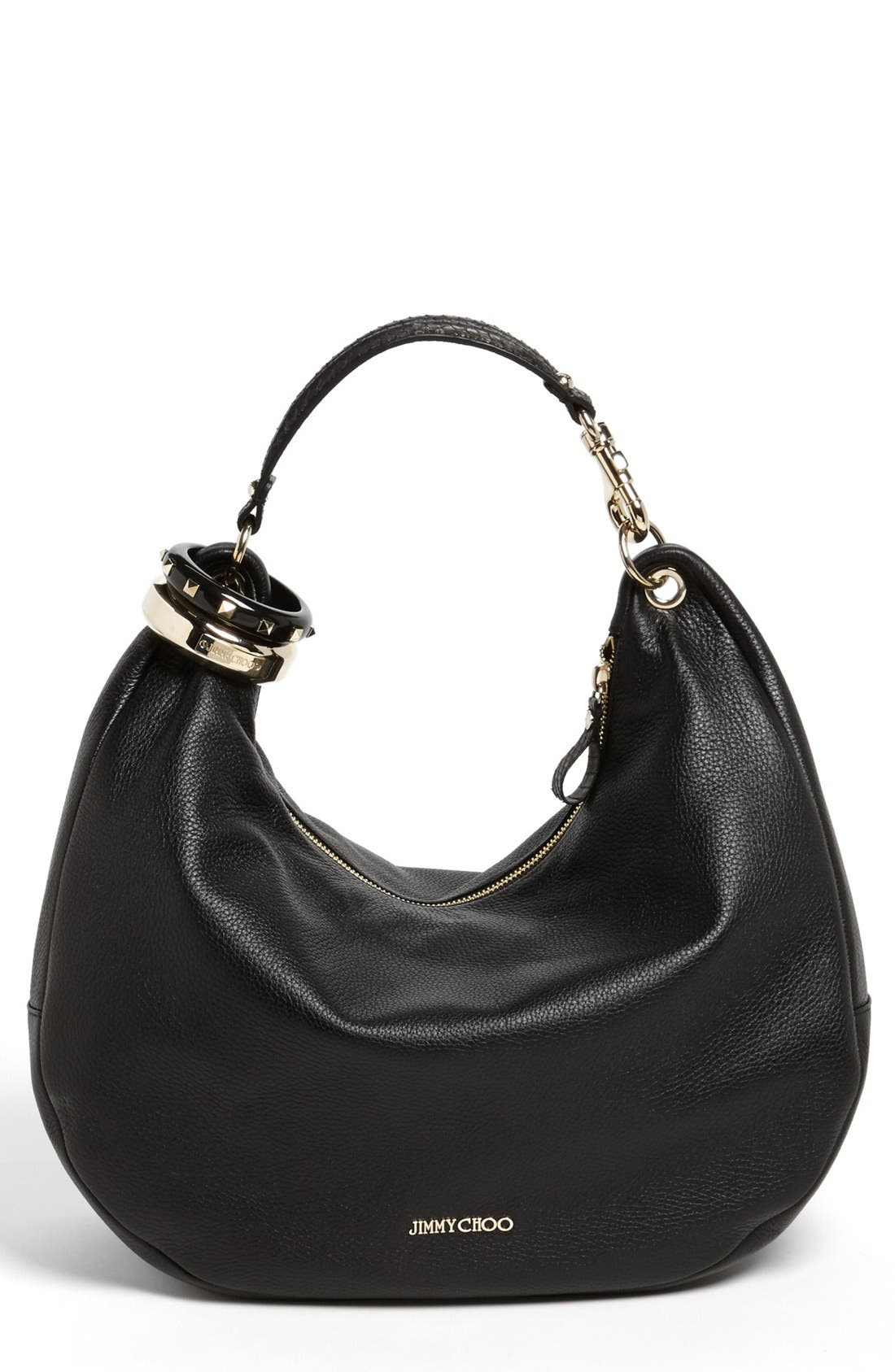 Main Image - Jimmy Choo 'Large Solar' Leather Hobo