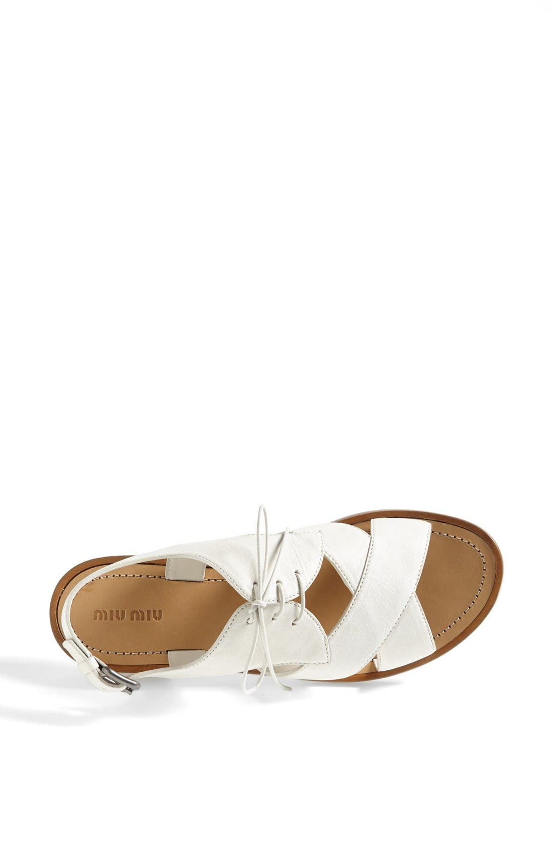 Alternate Image 3  - Miu Miu Lace-Up Sandal